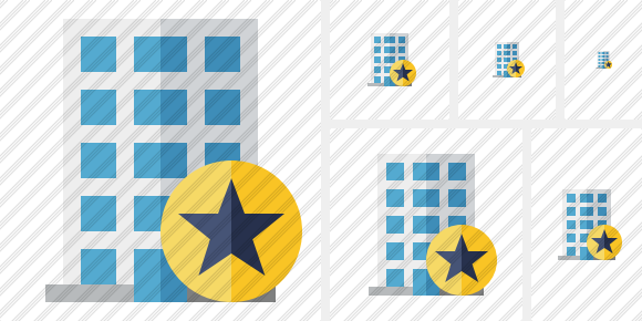 Office Building Star Icon