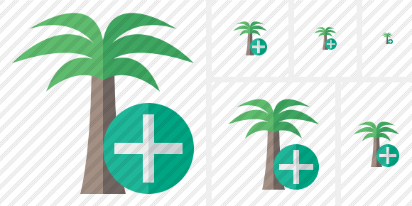 Palmtree Add Icon