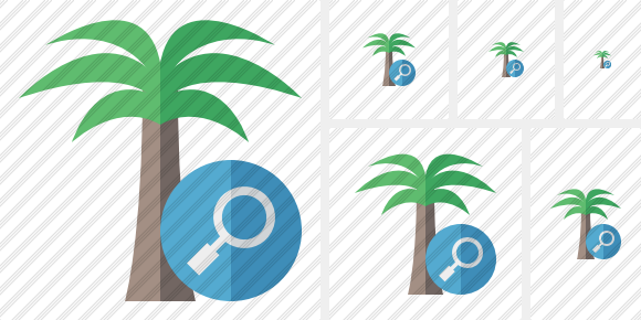 Palmtree Search Symbol