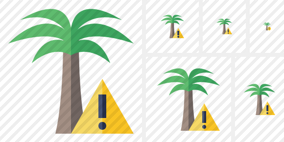 Palmtree Warning Symbol
