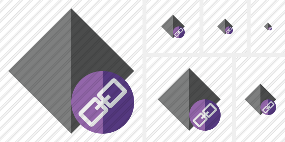 Rhombus Dark Link Icon