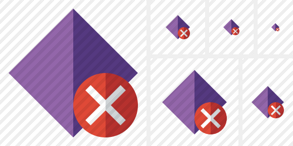 Rhombus Purple Cancel Icon