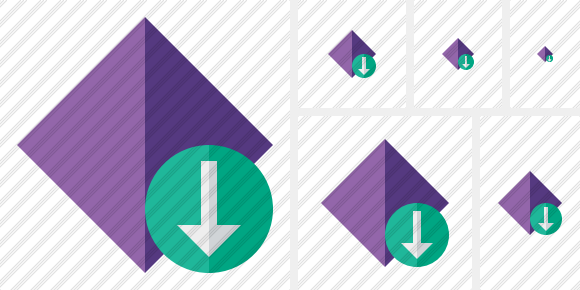 Icône Rhombus Purple Download