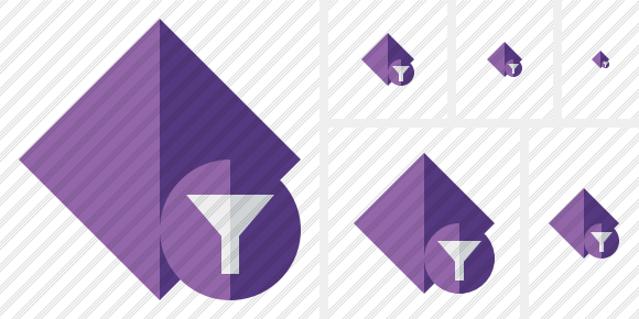 Rhombus Purple Filter Icon