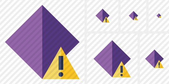 Rhombus Purple Warning Icon