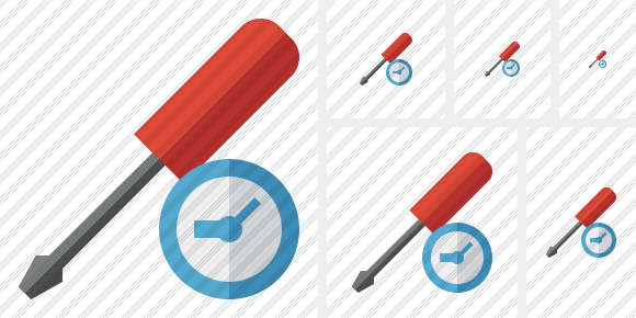Screwdriver Clock Symbol