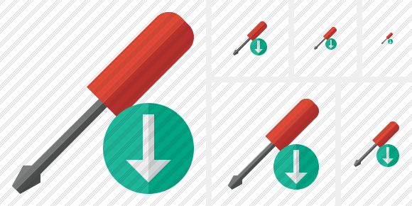 Screwdriver Download Symbol