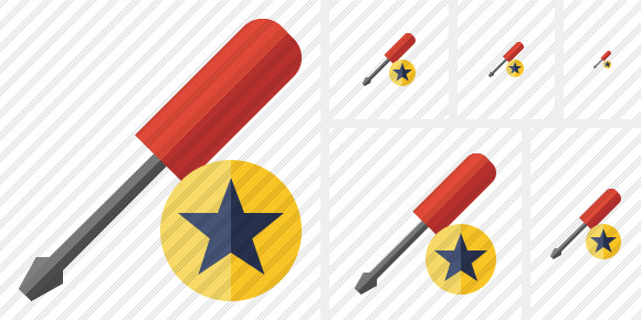 Icône Screwdriver Star