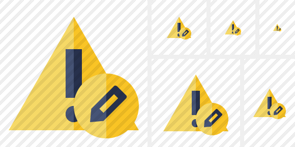 Warning Edit Symbol