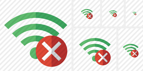 Wi Fi Green Cancel Symbol