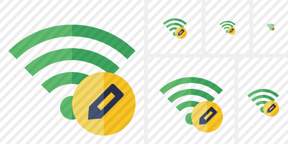 Wi Fi Green Edit Icon