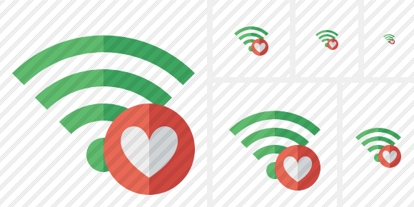 Wi Fi Green Favorites Symbol