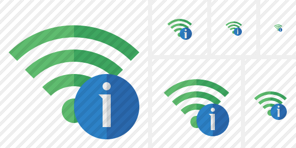Wi Fi Green Information Symbol