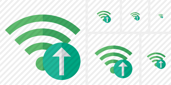 Wi Fi Green Upload Symbol