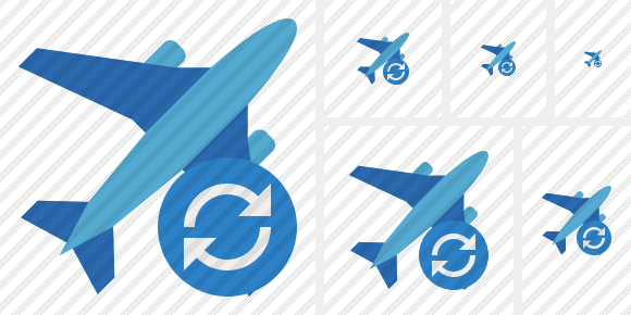 Airplane 2 Refresh Icon
