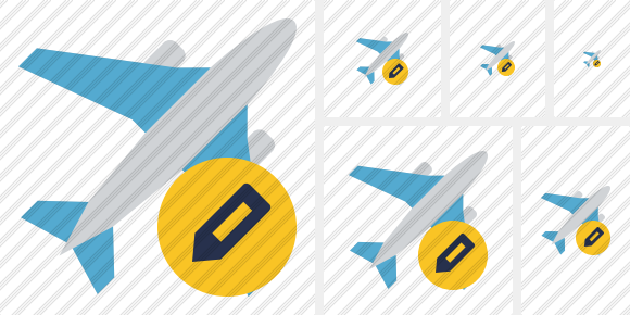 Airplane Edit Symbol