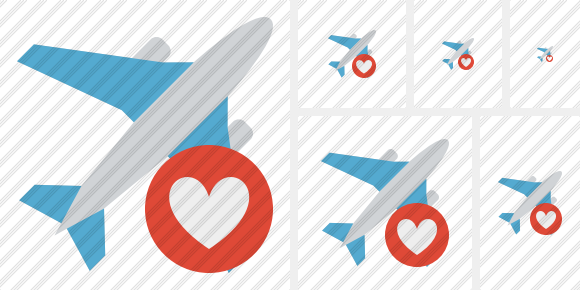Airplane Favorites Symbol