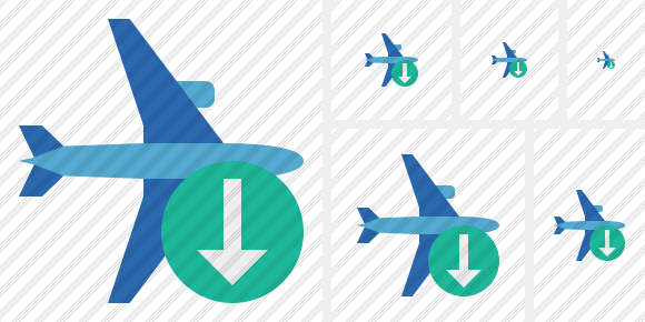 Airplane Horizontal 2 Download Symbol
