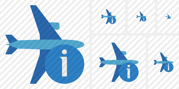 Airplane Horizontal 2 Information Icon