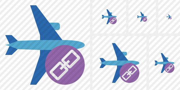 Airplane Horizontal 2 Link Icon