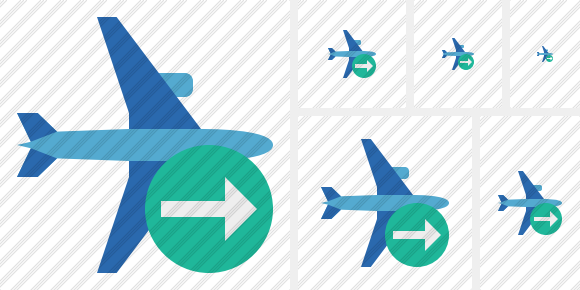 Airplane Horizontal 2 Next Icon