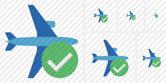 Airplane Horizontal 2 Ok Icon