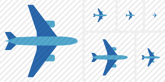 Airplane Horizontal 2 Icon