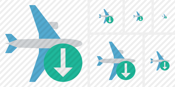 Airplane Horizontal Download Icon