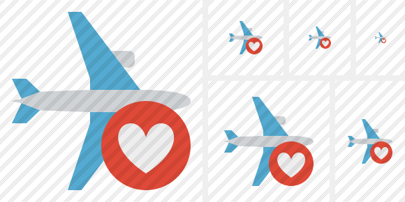 Airplane Horizontal Favorites Icon
