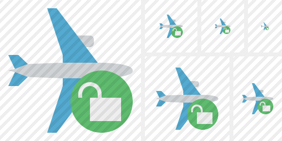 Airplane Horizontal Unlock Icon