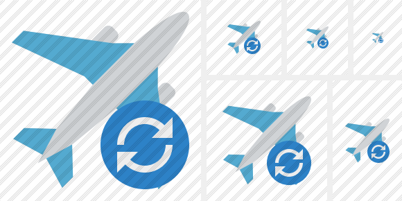 Airplane Refresh Symbol