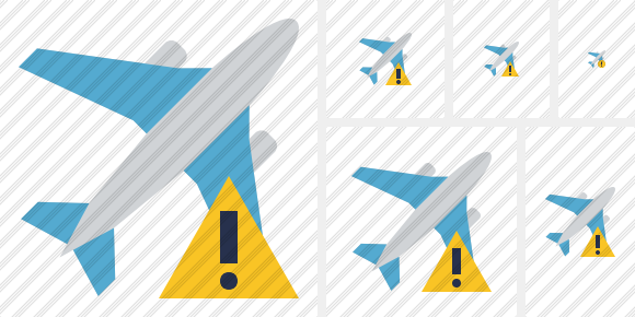 Airplane Warning Icon