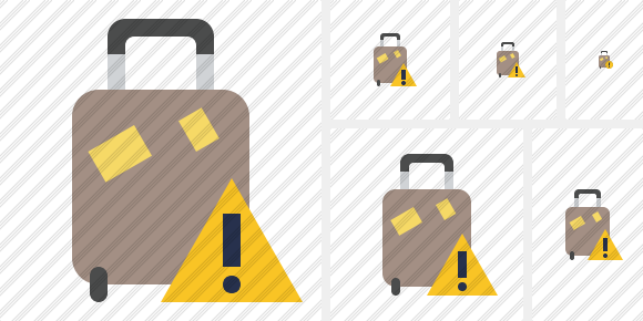 Baggage Warning Symbol