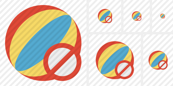 Beach Ball Block Icon