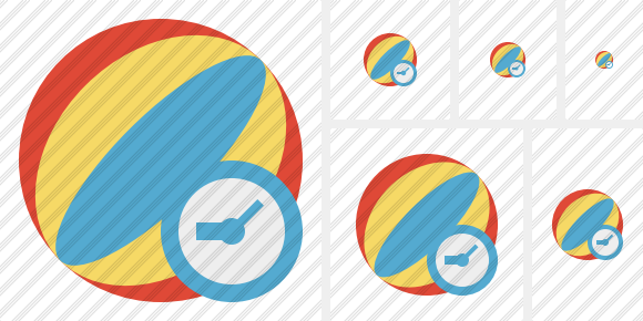 Beach Ball Clock Icon