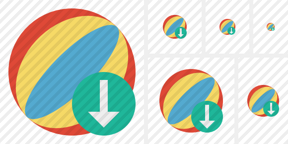 Beach Ball Download Icon