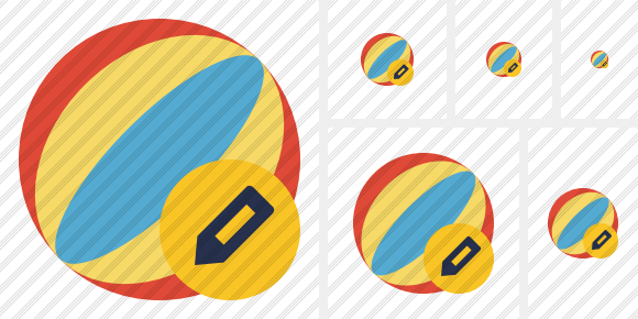 Beach Ball Edit Icon