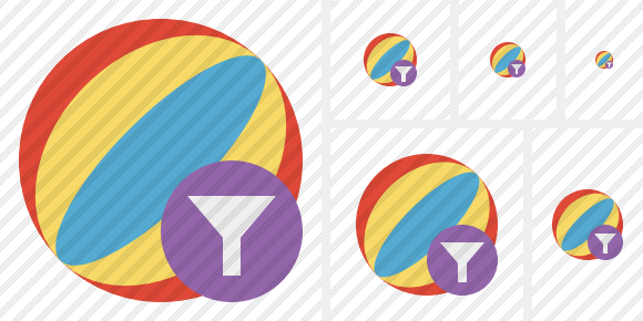 Beach Ball Filter Icon