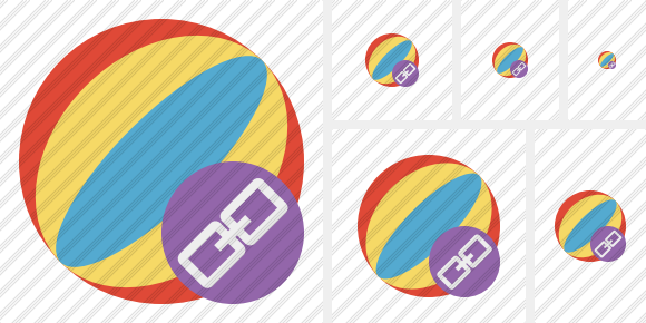 Beach Ball Link Icon