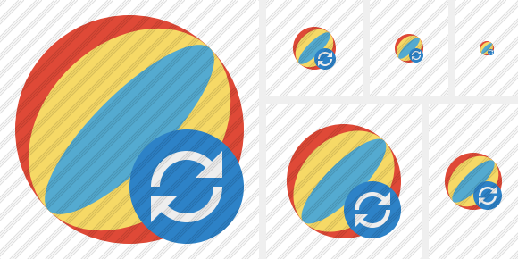 Beach Ball Refresh Icon