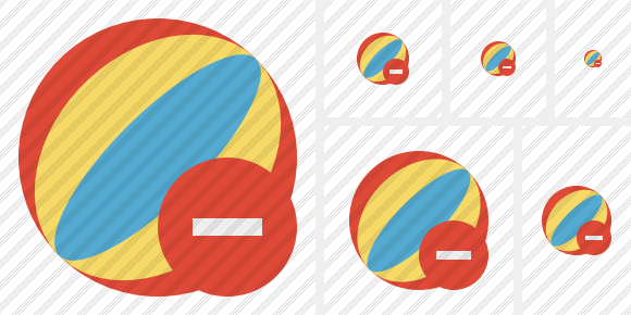 Beach Ball Stop Icon