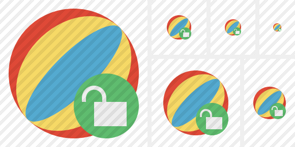 Beach Ball Unlock Icon
