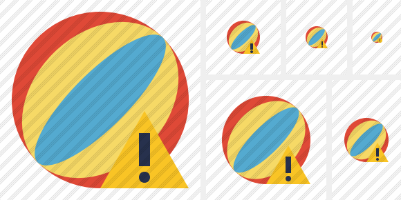 Beach Ball Warning Icon