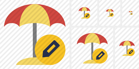 Beach Umbrella Edit Symbol