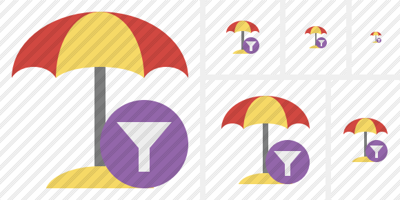 Beach Umbrella Filter Symbol