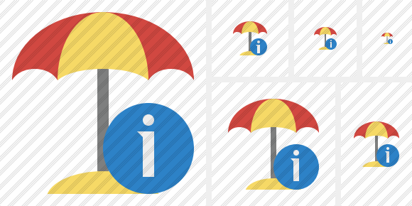 Beach Umbrella Information Symbol