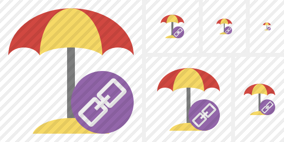 Beach Umbrella Link Symbol