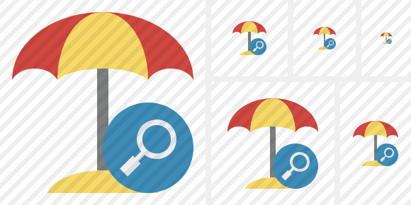 Beach Umbrella Search Symbol