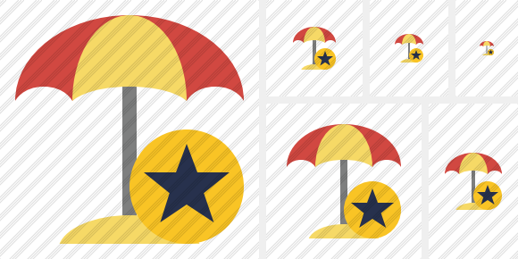 Beach Umbrella Star Symbol