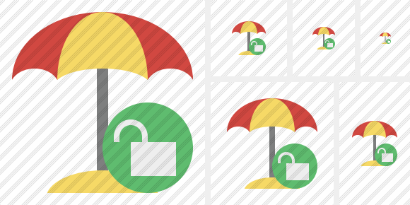 Beach Umbrella Unlock Symbol